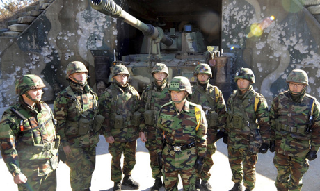 South Korean marines