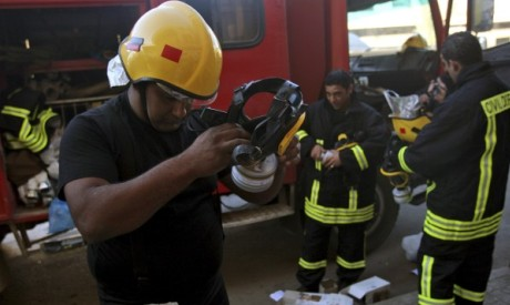 Palestinian firefighters