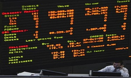 the egyptian stock market fell 0.76 per cent