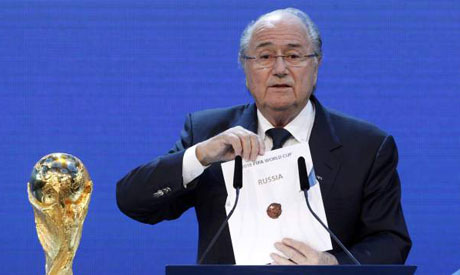 Joseph Blatter unveils Russia as hosts of the World Cup 2018