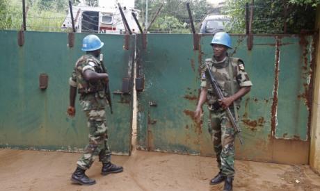 UN troops in I. Coast