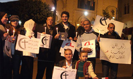 Solidarity in front of a Heliopolis Church.