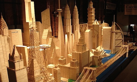 World's greatest monuments rebuilt one toothpick at a time