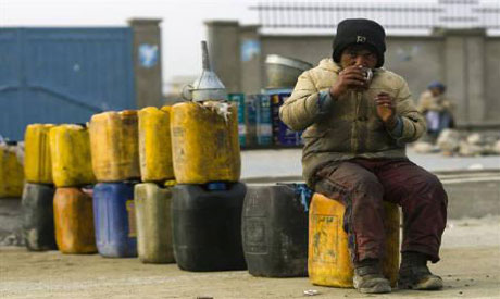 Afgahanistan oil suffers shortage