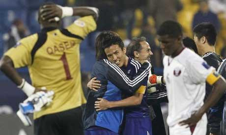 Japan, Qatar teams
