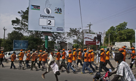 Pro-separation rally in Juba 7 January 2011. (AP)