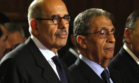 Mohamed ElBaradei and Amr Moussa
