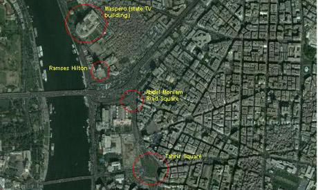 Map of Maspero district, Cairo