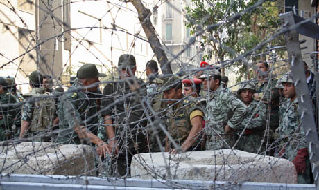 Army forces in Tahrir square 24 November 2011 (Photo: Mai Shaheen)