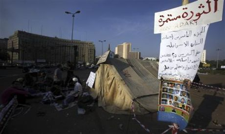 Tahrir sit-in continues as Egyptians vote in first elections after the fall of Mubarak (Photo: reute