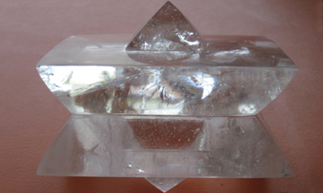 the pyramid shaped crystal