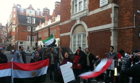 Egyptians abroad protest