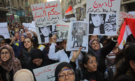 Women march against military violence and military rule (Photo: Mai Shaheen)