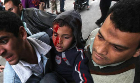 Child injured in Tahrir