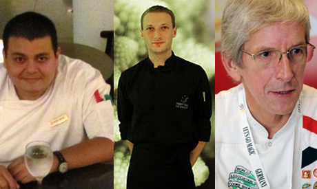 Three international chefs in Cairo