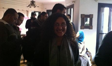 Mona Seif: activist in the No to Military Trials Campaign and sister of Blogger Alaa Abd El-Fattah a