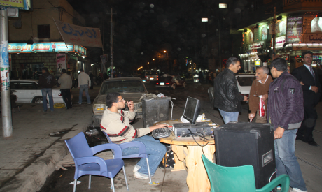 Brotherhood mobile street office in Moharam Bek (Photo: Mostafa Ali)