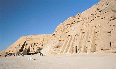 Abu Simbel temples one of Egypt