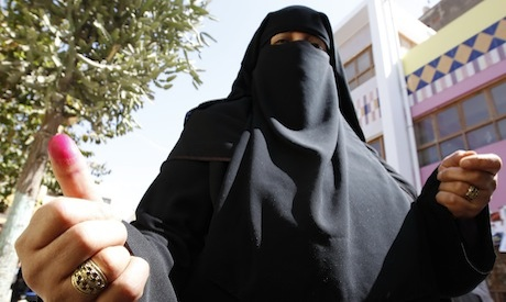 Salafi woman votes