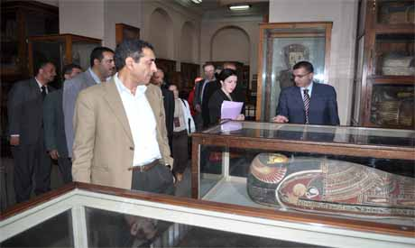 UNESCO delegate during a tour at the Egptian musuem