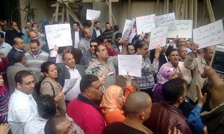 Protesting journalists of  Akhbar El Youm