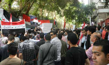Syrian protests in Cairo