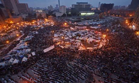 Tahrir Square during January 25 revolution