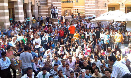 AUC students in solidarity with workers