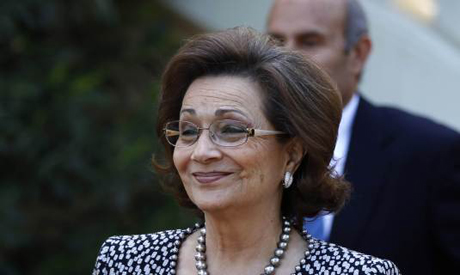 File photo for Suzanne Mubarak in Luxor