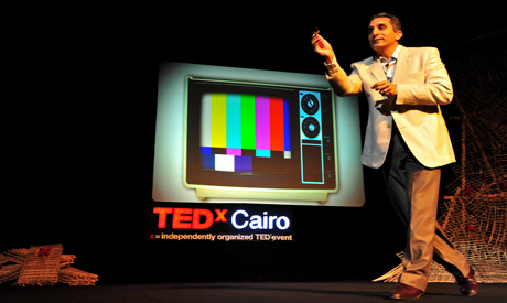 Bassem Youssef at TEDx Cairo – Photo by Mohamed El Hebeishy