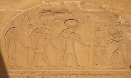 a worshipping relief at Horemhab tomb