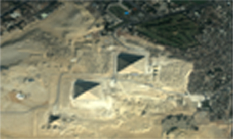 a satelite photos of Giza plateau