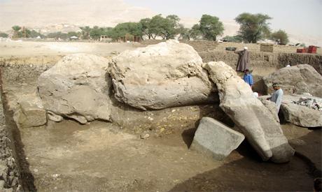 the colossal statue of Amenhoteop III