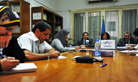 UNHCR press conference – Photo by Mohamed El Hebeishy