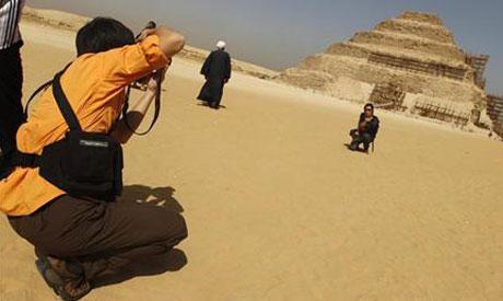 Tourists at Saqqara