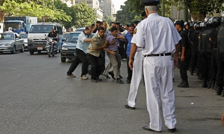 More than 7 protestors were arrested as the police dispersed the sit-in (photo by: Mai Shaheen)