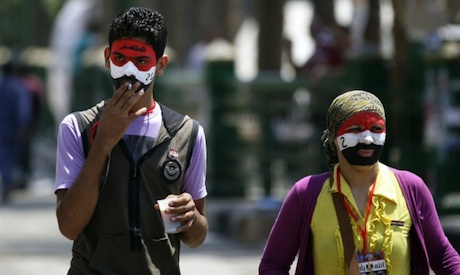 Tahrir protesters July 10 (Reuters)