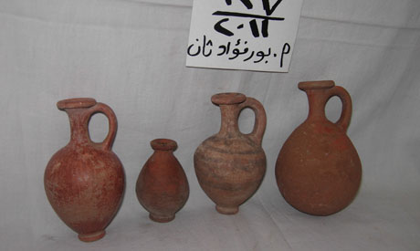 recovered clay vessels