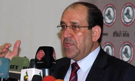 Iraqi Prime Minister Nouri Al-Malki (Reuters photo)