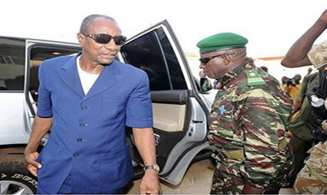 Guinean President Alpha Conde survives rocket attack (Reuters attack)