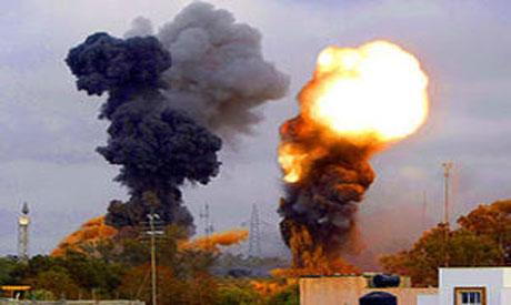 NATO warplanes hit Libyan capital (Reuters photo)