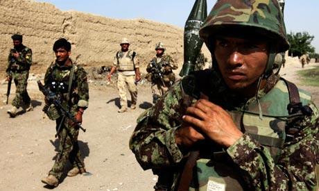 Afghan and NATO forces