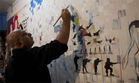 Khaled Hafez in his studio
