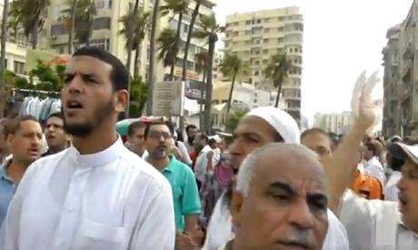 Salafist rally in Alexandria, Friday 29 July