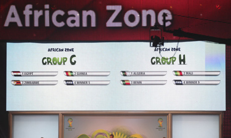 African zone in the WC draw