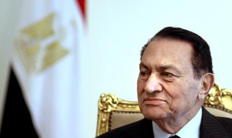 Hosni Mubarak looks ahead