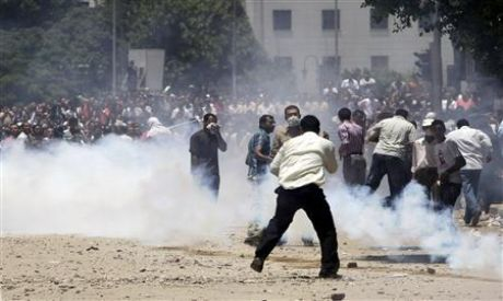 Clashes in Tahrir Square in 29th of June