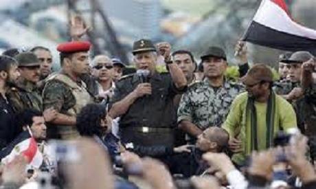 General Ruwaini of SCAF addressing Tahrir