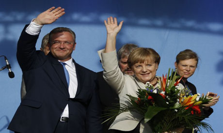 German Chancellor Merkel and CDU top-candidate
