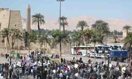Protestors in Luxor